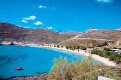 ΣΕΡΙΦΟΣ...Η παραλία Ψιλή Αμμος με τα ρηχά νερά. Εχει πάρει στο παρελθόν τον τίτλο της καλύτερης παραλίας της Ευρώπης!