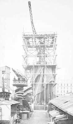 vintage everyday: Photos of the Statue of Liberty Being Built in Paris Before She Was Dedicated to America