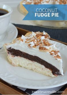 Coconut Fudge Pie is an easy 4-step recipe that's perfect to bring to any party or summer barbecue. For a fun and delicious twist the kids will love, have them help you with a Rice Krispies Treats® crust.