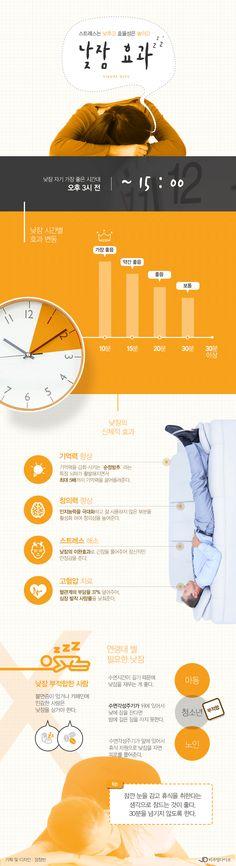 """""""스트레스↓ 효율성↑"""" 낮잠의 놀라운 효과 [인포그래픽] #sleep / #Infographic ⓒ 비주얼다이브 무단 복사·전재·재배포 금지"""
