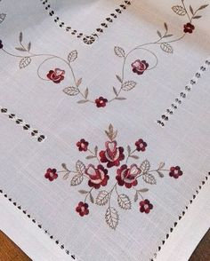 No automatic alt text available. Embroidery On Kurtis, Border Embroidery, Hardanger Embroidery, Embroidery Patterns Free, Machine Embroidery Designs, Embroidery Stitches, Hand Embroidery, Drawn Thread, Linens And Lace