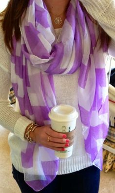 Lavender and white, with the Starbucks, seems pretty perfect to me, don't cha think?