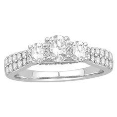 14K White Gold Oriana Bridal Diamond Engagement Ring   Rogers Jewelry Co.