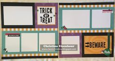 My new workshop featuring CTMH Jeepers Creepers paper
