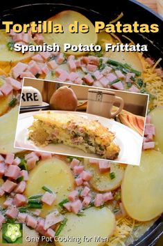 Tortilla de Patatas or Spanish Potato Frittata is wildly popular in Spain and eaten for breakfast or wrapped in warm buttered bread for an afternoon sandwich.