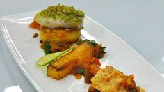 Hake with herb crumb, potato cake and polenta chips - RTE Food
