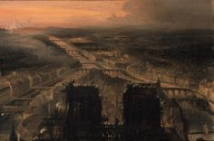 Illumination of Notre Dame to Celebrate the Election of Prince Louis-Napoleon Bonaparte (1808-73) to the Republic, after 1850 (oil on canvas) by Jean-Jacques Champin