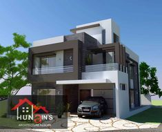 House Facade Design Modern Architecture Front Doors Ideas For 2019 House Front Design, House Design Photos, Modern House Design, Facade Design, Exterior Design, Architecture Design, Front Elevation Designs, House Elevation, Contemporary Building