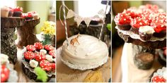 Woodland 1st Birthday Party - cupcakes are adorable as little mushrooms growing in the forest