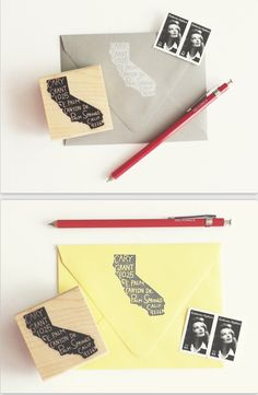 personalized home state return address stamp