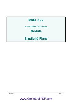 Cours Complet RDM Exercises
