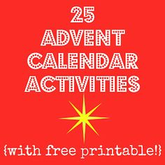 Making Lemonade: Countdown 'Til Christmas: Printable Advent Activities