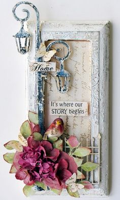 'Home It's where our story begins' Sentiment Plaque by Trudi Harrison