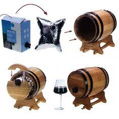 Un petit tonneau distributeur de vin