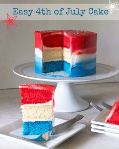Easy 4th of July Cak