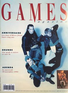 "10/11/1993 - 5 ans des ""Games"" - Grunge Cover. Design: Christophe Brochier Photo: Daniel De Dave Stylisme: Belinda Grunge, Cover Design, Movies, Movie Posters, Art, Winter Games, Gaming, Art Background, Film Poster"