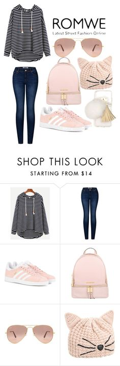 """""""Lisa's Romwe contest"""" by watermelon-cdxii ❤ liked on Polyvore featuring 2LUV, adidas Originals, MICHAEL Michael Kors, Ray-Ban, Karl Lagerfeld, Ashlyn'd and romweme"""