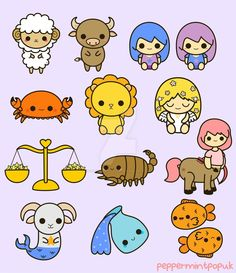 Kawaii zodiac by peppermint-pop-uk