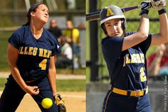 Allegheny's Caitlin Nealer & Maureen Pallone were named first-team All-Central Region by the NFCA.