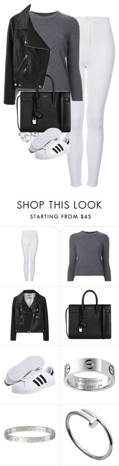 """Untitled #1190"" by lovetaytay ❤ liked on Polyvore featuring Topshop, Alexander McQueen, Acne Studios, Yves Saint Laurent, adidas and Marc Jacobs"