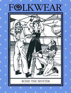 Folkwear Rosie the Riveter WWII 1940s Overalls, Shirt, Slacks Sewing Pattern #240 size 6-20 by BonniesPatternShop on Etsy https://www.etsy.com/listing/178934394/folkwear-rosie-the-riveter-wwii-1940s