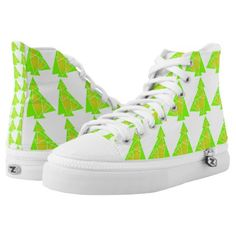 Little tree with a christmas tree artwork pattern High-Top sneakers - diy cyo customize create your own personalize