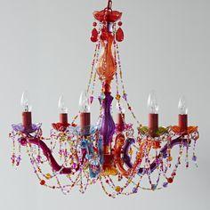 Colorful chandeliermulti color chandelier dream home pinterest multi coloured chandelier aloadofball Gallery