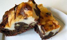 "marmorierte ""Käse""-Kuchen-Brownies"