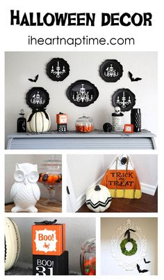 Cute and easy halloween decor on iheartnaptime.com...