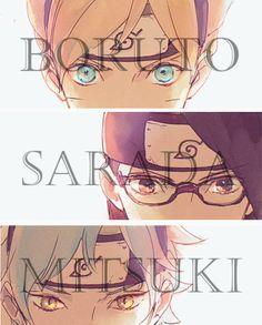 Uzumaki Boruto, Uchiha Sarada and Mitsuki Naruto Shippuden, Naruto Gaiden, Boruto And Sarada, All Anime, I Love Anime, Team Konohamaru, Manga, Yamanaka Inojin, Naruto The Movie