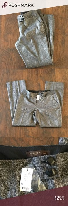 """NWT Sparkling Trousers by The Limited Beautiful metallic sparkling trousers are definitely a statement piece. Inseam is 32"""". The Limited Pants Trousers"""