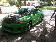 Green Hyundai Tiburon GT