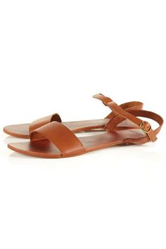 Leather Strap Sandals / HOUPLA