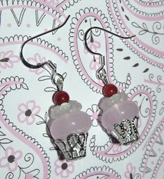 Beaded Cupcake Handmade Earrings by CraftyChic90 on Etsy, $2.50