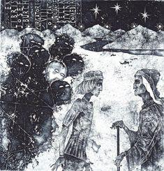#bookplate #exlibris #illustration by Vladimir Zuev #Russia on #50watts collection of Richard Sica http://50watts.com/Ex-Libris-Mr-Reaper-10