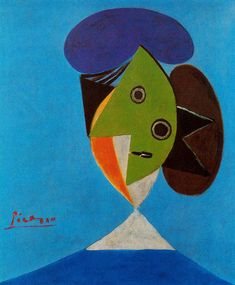 Bust of a woman, 1935, Pablo Picasso Medium: oil on canvas