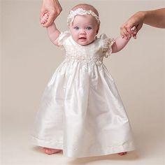 Feitos Batizado Vestidos Adorável tafetá crianças Batismo vestido de baptizado Vestidos Ruffles Applique manga curta de alta qualidade