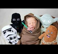 Baby Jedi. This is perfect for Kevin:) lol