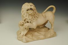 18th Century Italian Marble Lion | From a unique collection of antique and modern decorative objects at http://www.1stdibs.com/furniture/more-furniture-collectibles/decorative-objects/