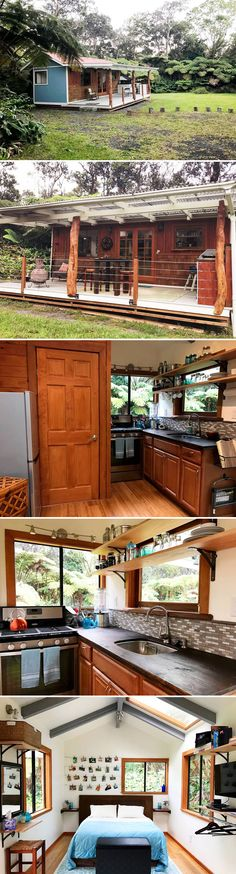 Give tiny living a try the next time you visit Hawaii! Located on the Big Island is the Hale Iki, a 240 sq.ft. off-grid tiny house Airbnb rental.