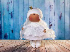 Items similar to Doll Melan. Doll Princess on Etsy La Petite Collection, Waldorf Dolls, Handmade Dolls, Handmade Gifts, Flower Girl Dresses, Crochet Hats, Textiles, Princess, Trending Outfits