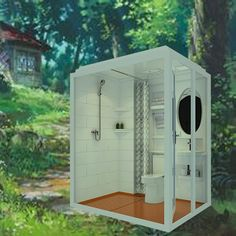 $1188 Cheap And Fashinable Prefab All In One Modular Bathroom With Washing  Basin For House Trailer