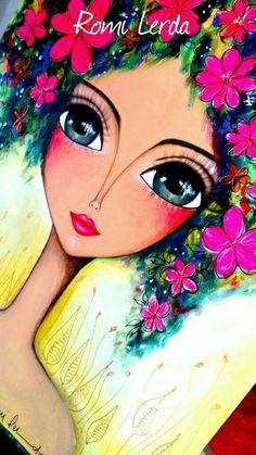 Art Journal Inspiration, Painting Inspiration, Krishna Painting, Spirited Art, Stone Art, Box Art, Face Art, Art Girl, Watercolor Art