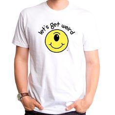 Lets Get Weird, Stay Weird, Crew Neck Shirt, T Shirt, Goodie Two Sleeves, Danielle Bregoli, Spun Cotton, Lounge, Cold