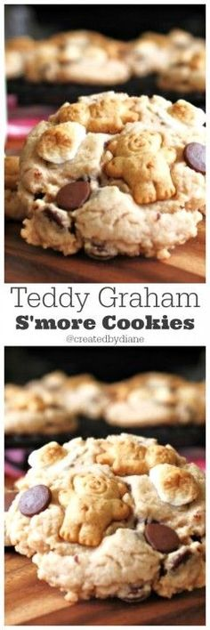 Teddy Graham S'more cookies from /createdbydiane/