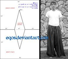 """OSFM!!! 2.5yards of 45"""" or 60""""!!!  Poofy pants!!! Patterns + Tutorials by eqos on deviantART"""