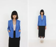 al,thing - Blue silk jacket
