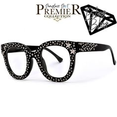 1cd04f716d Premier Bling Bling Collection-150 Shine Bright Like a Super Star Oversized  Clear Cat Eye
