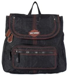 Harley-Davidson� Women's Punk Sling Backpack Purse. Crinkle Nylon. Embrodiery. Harley Dog Tags. RL7221S $59.95