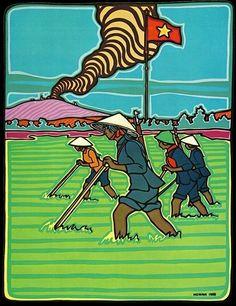 The communist art of René Mederos, Cuban propagandist for Vietnamese revolution Communist Propaganda, Propaganda Art, Political Posters, Political Art, Cuba, Christian Artwork, Vietnam War Photos, Socialist Realism, Singing In The Rain